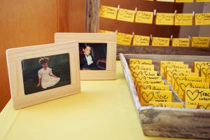 Perfect Day Wedding Planners bride and groom photos with placecards