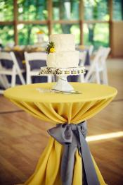 Perfect Day Wedding Planners reception highboy linens