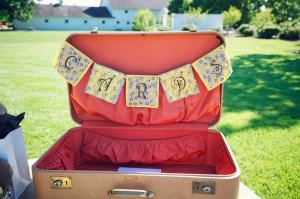 Perfect Day Wedding Planners vintage suitcase for cards