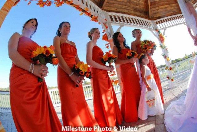 Perfect Day Wedding Planners Orange Bridesmaid Dresses Bridesmaid Proposals