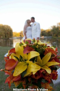 perfect day wedding planners bob and arielle couple and bridal bouquet