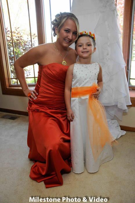 Perfect Day Wedding Planners flower girl dress tangerine