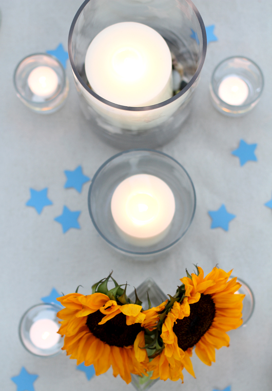 Perfect Day Wedding Planners 4th of July wedding star accents for guest tables
