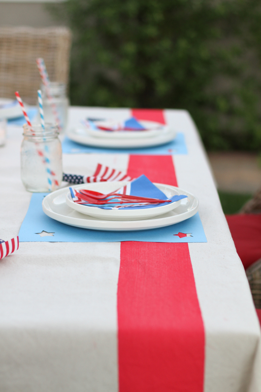 Perfect Day Wedding Planners 4th of July wedding tablescape