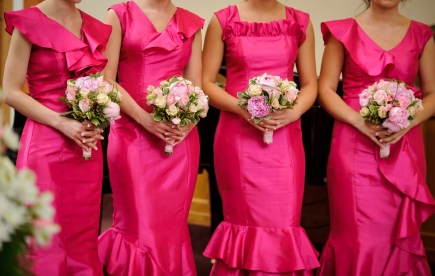Perfect Day Wedding Planners fuschia bridesmaid dresses