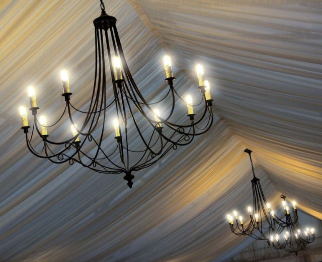 Perfect Day Wedding Planners outdoor wedding tents chandelier lighting