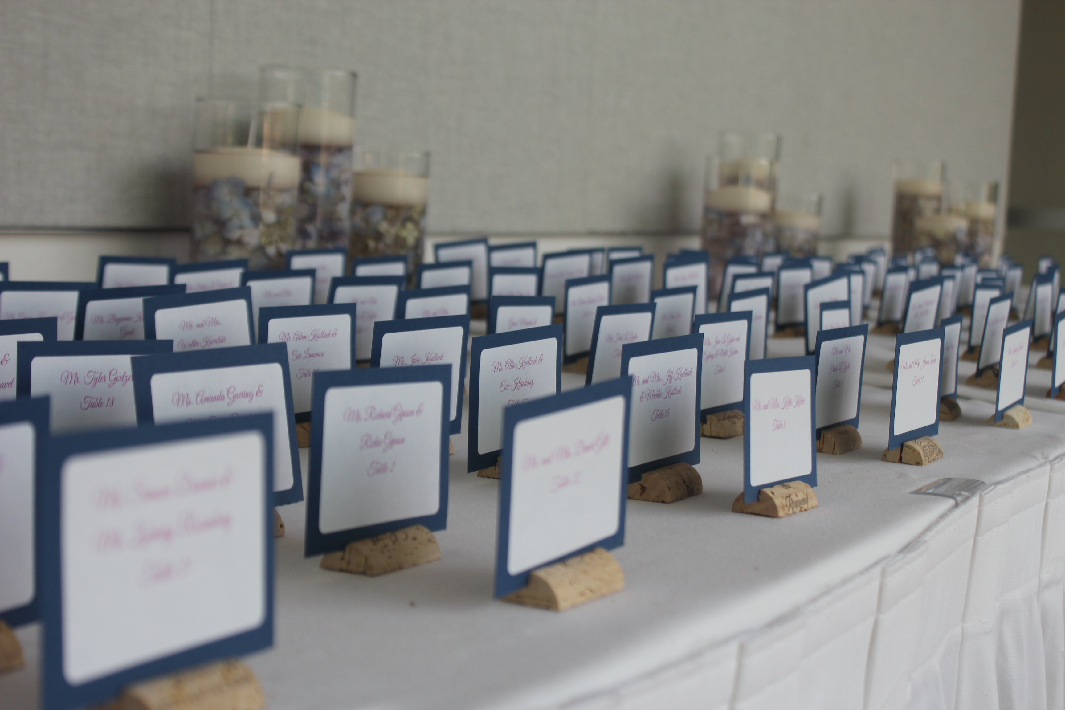 creative wedding place cards | Perfect Day Wedding Planners