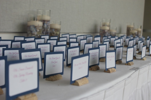 Perfect Day Wedding Planners Placecards in Wine Corks
