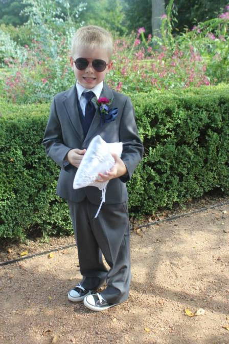 Perfect Day Wedding Planners Ring Bearer in three piece suit